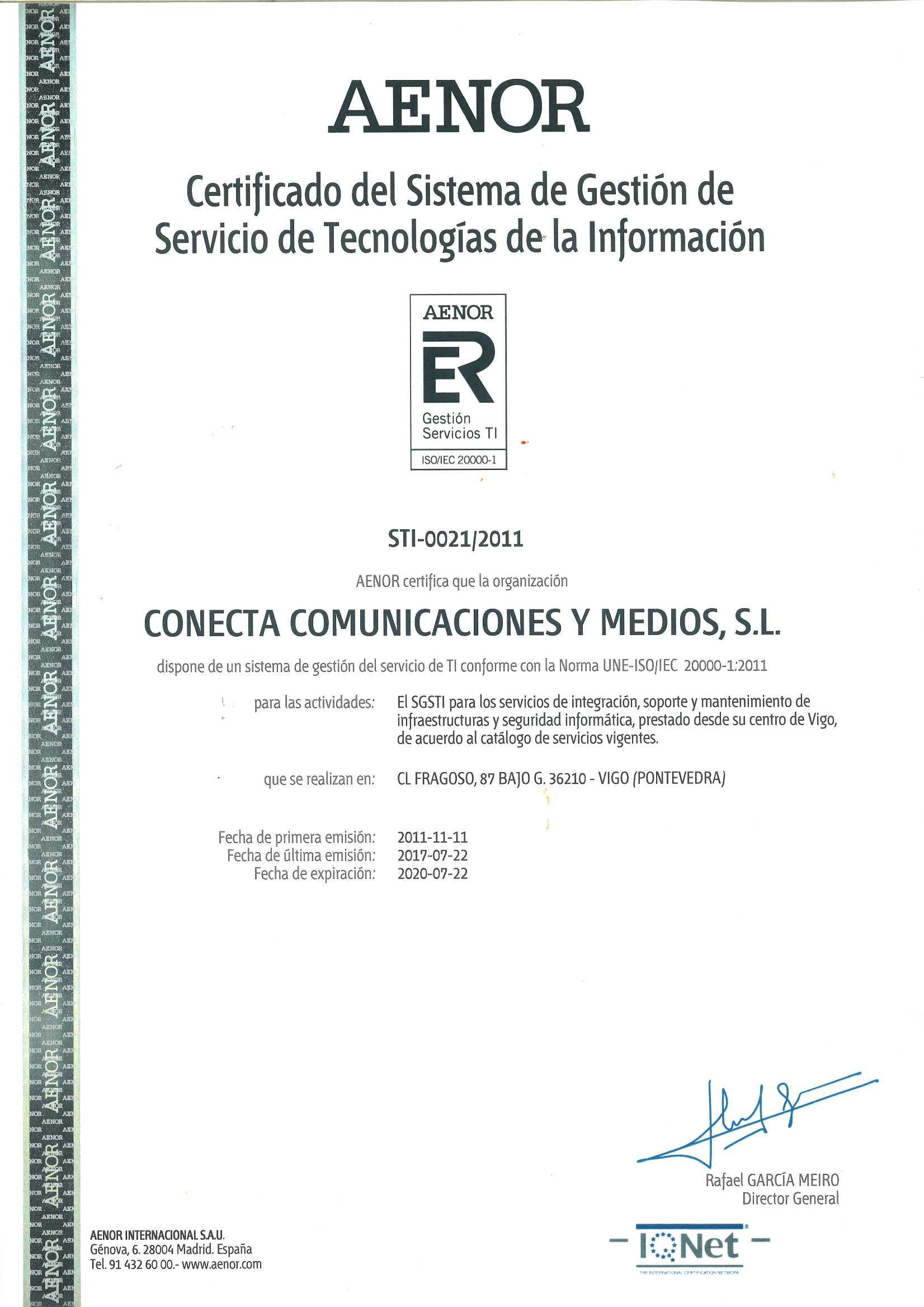 Conecta 20000 IQNET