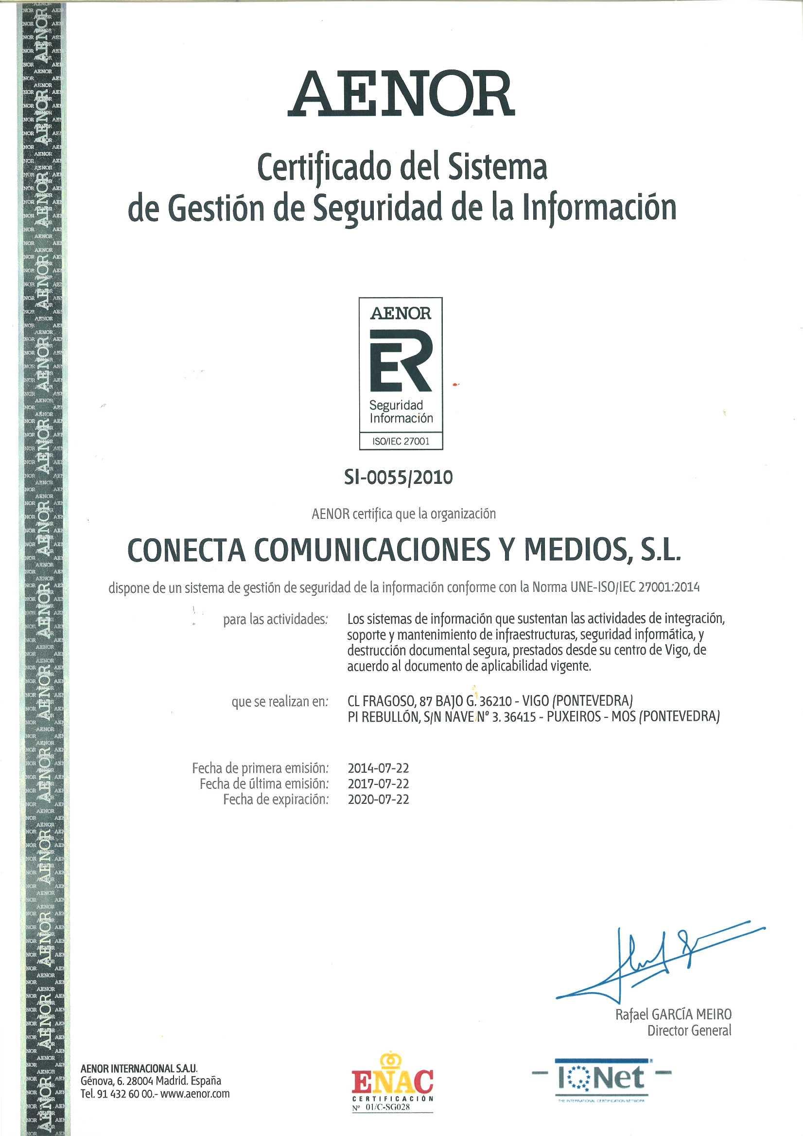 Conecta 27001 IQNET
